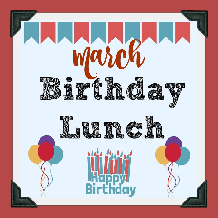 March birthday lunch clipart