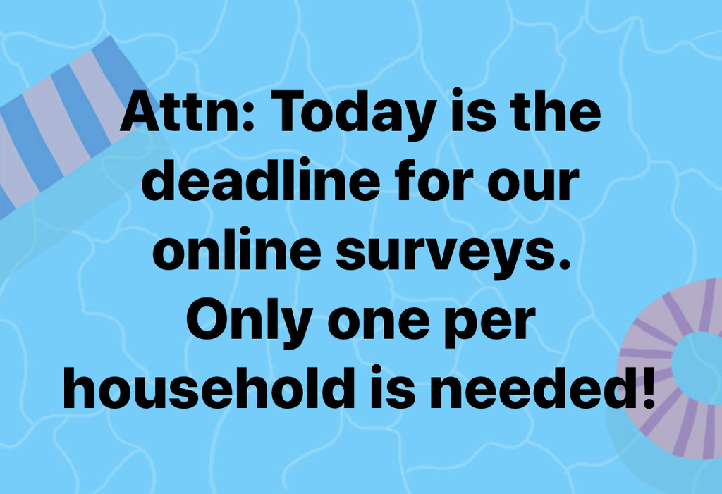Survey deadline