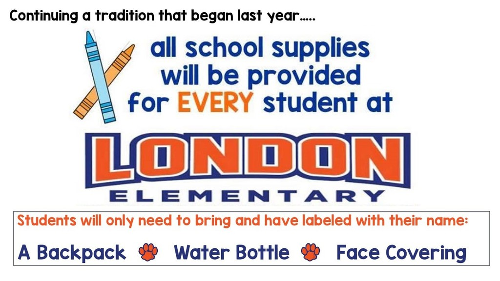 School supplies provided for all students