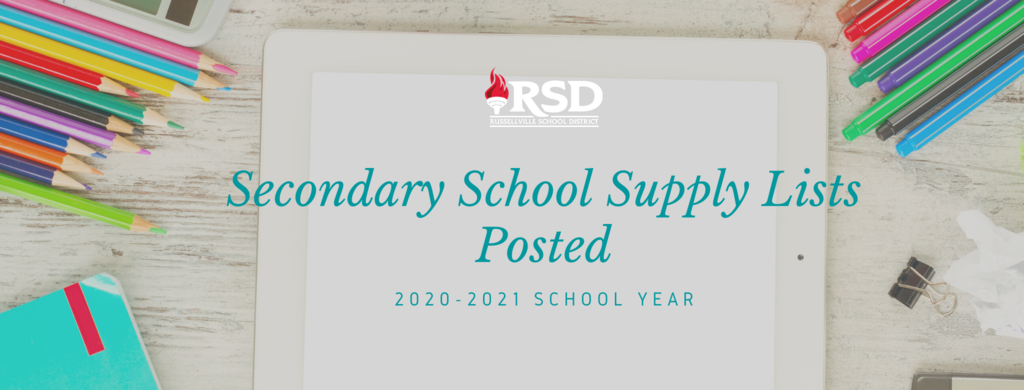 Secondary School Supply List Posted
