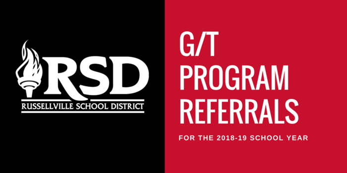 PSA for GT Program Referrals; Red and Black background