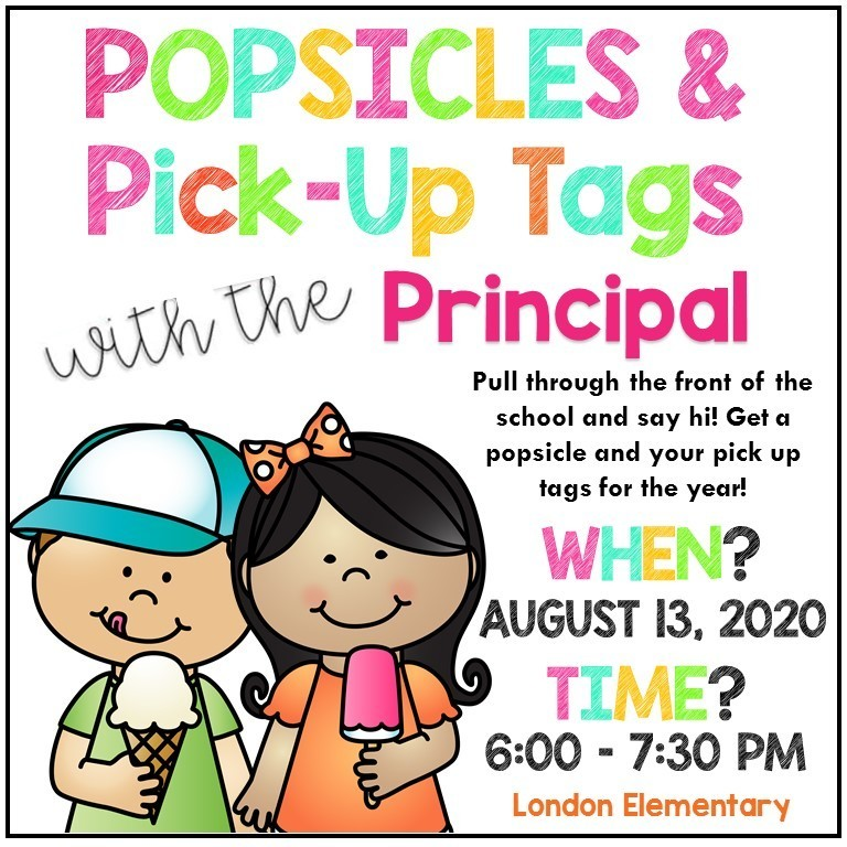 Popsicles and Pick Up Tags
