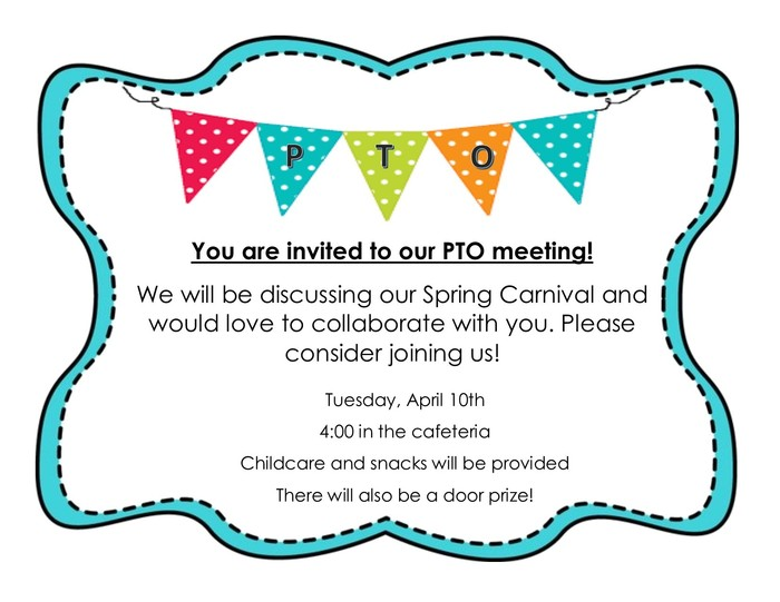April PTO Meeting Invitation