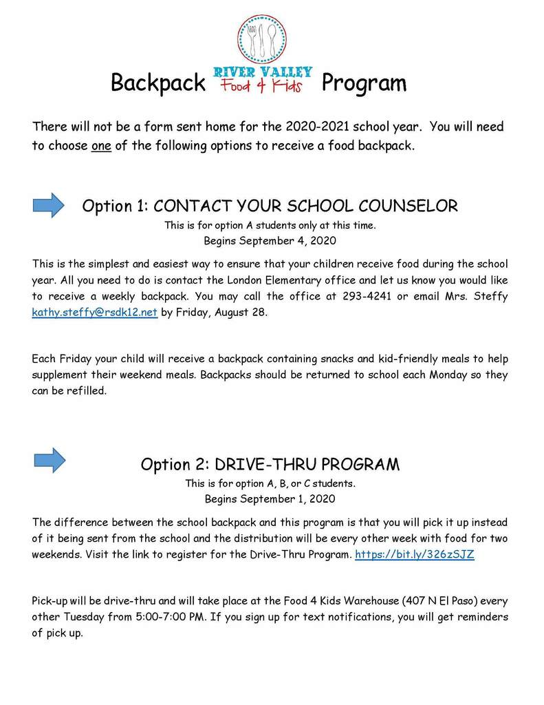 2020-21 backpack program