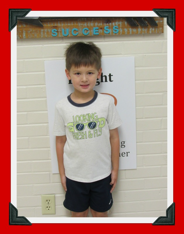 Kindergarten Student of the Month: Sebastien