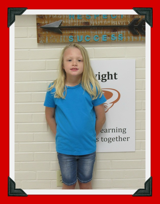 First Grade Student of the Month: Bentlee