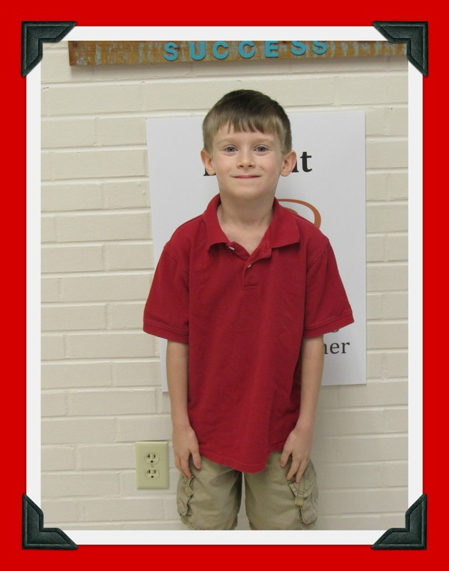 First Grade Student of the Month: Max