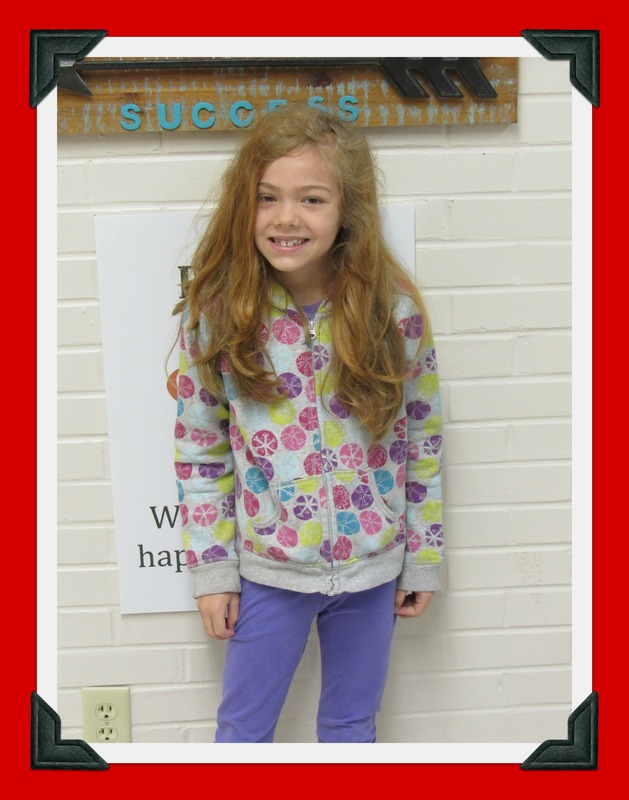Third Grade Student of the Month-Jacqueline