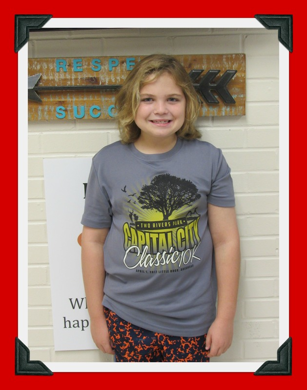 Fourth Grade Student of the Month: Isaac