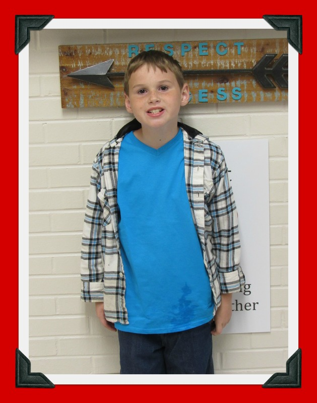 Mrs. McCurrie's Class Student of the Month: Craig