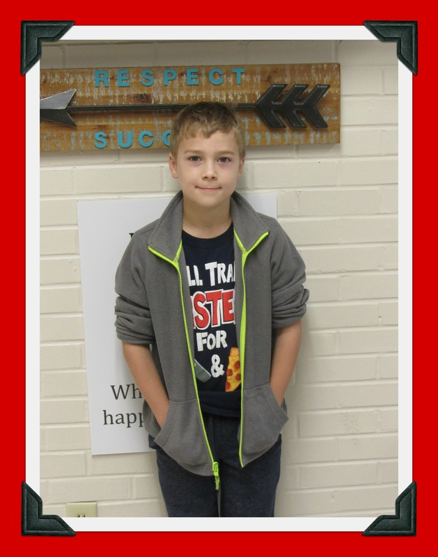 Mr. King's Class Student of the Month: Jacob