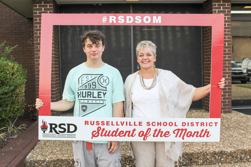 RHS student of the month for September and RHS principal.