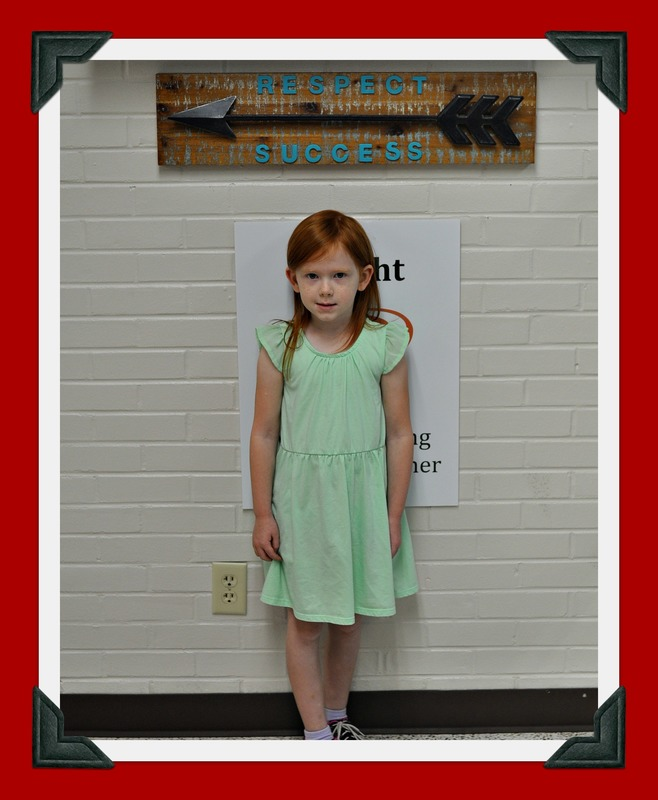 Kindergarten Student of the Month-Samantha