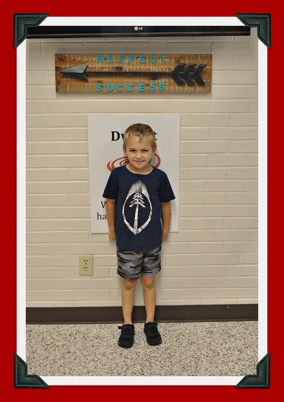 First Grade Student of the Month: Ty