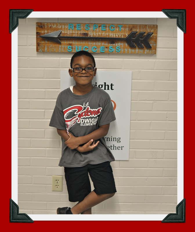 First Grade Student of the Month: Nileyon