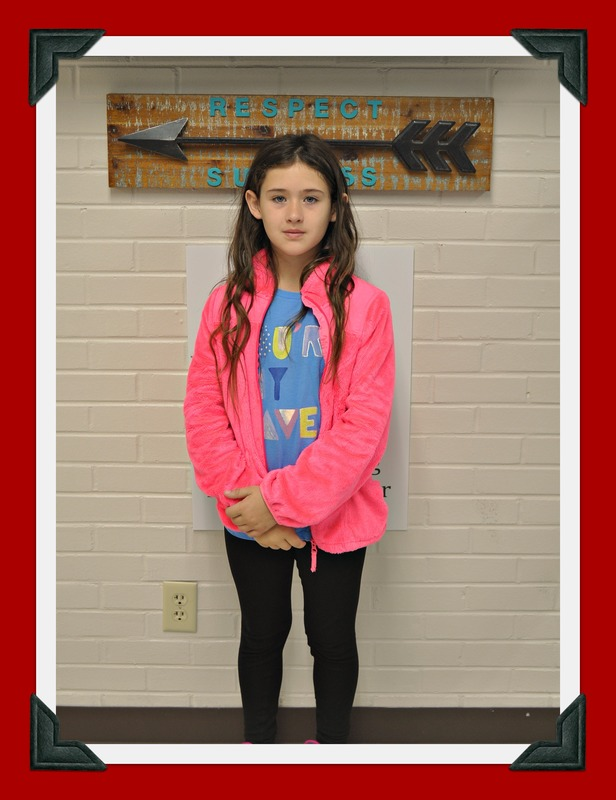 Second Grade Student of the Month: Britley