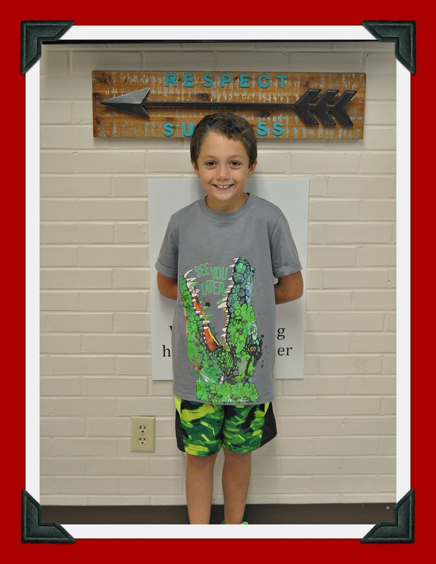 Second Grade Student of the Month: James