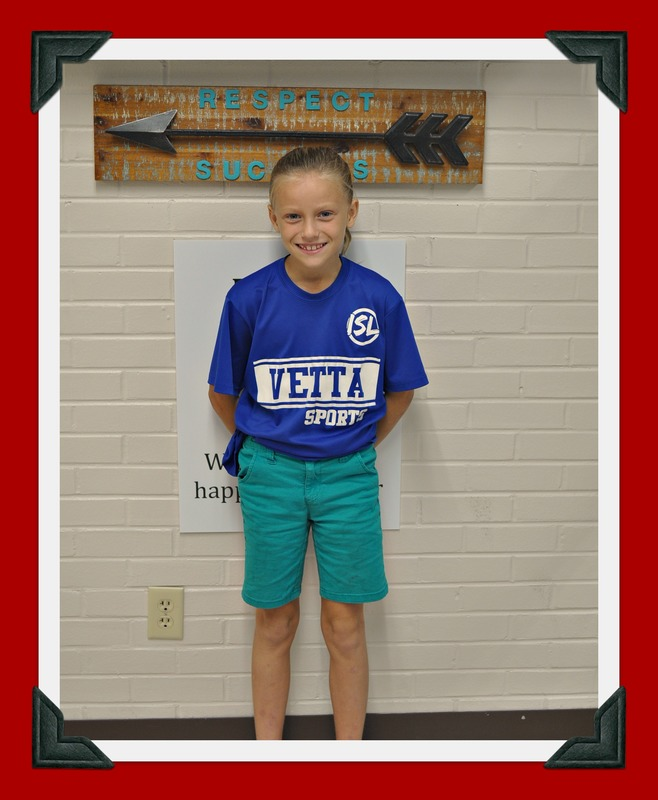 Fourth Grade Student of the Month: Aleeya