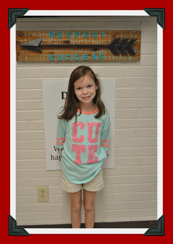 Third Grade Student of the Month: Caitlin