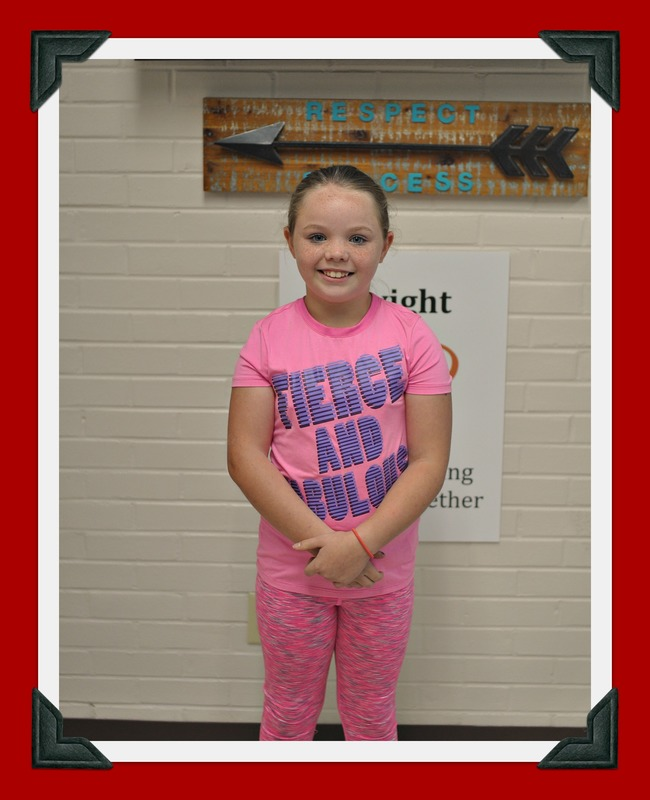 Third Grade Student of the Month: Falon