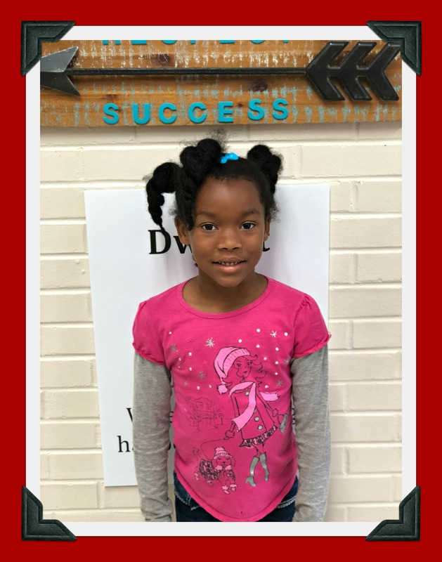 Kindergarten Student of the Month: Takia
