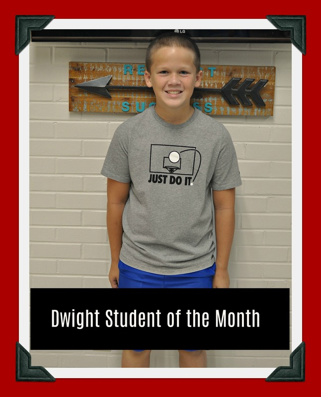 Fourth Grade Student of the Month: Carson
