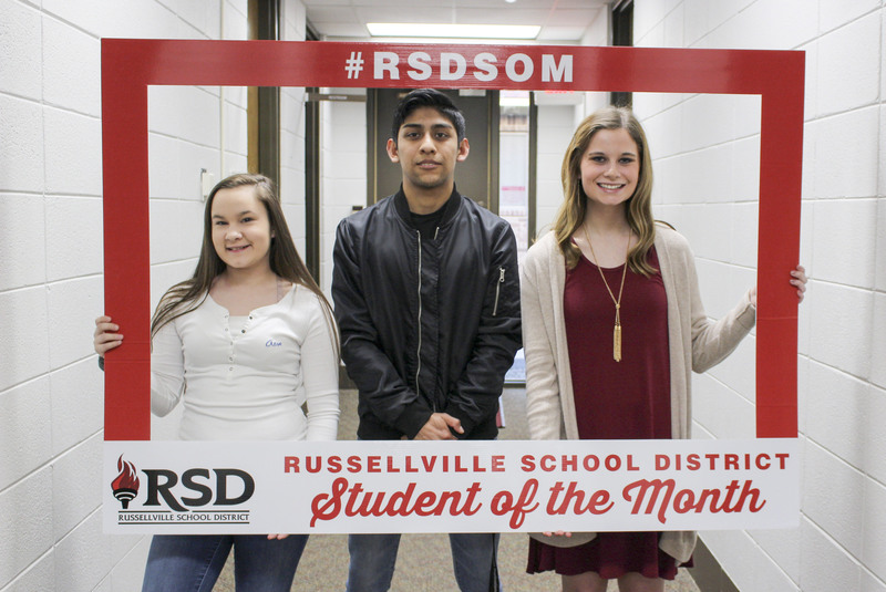 Secondary students of the month for March