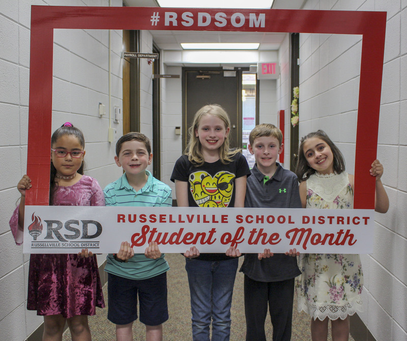 Elementary students of the month for April