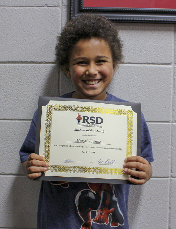 London student of the month for April